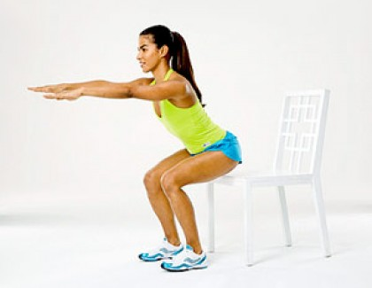 Squat to chair