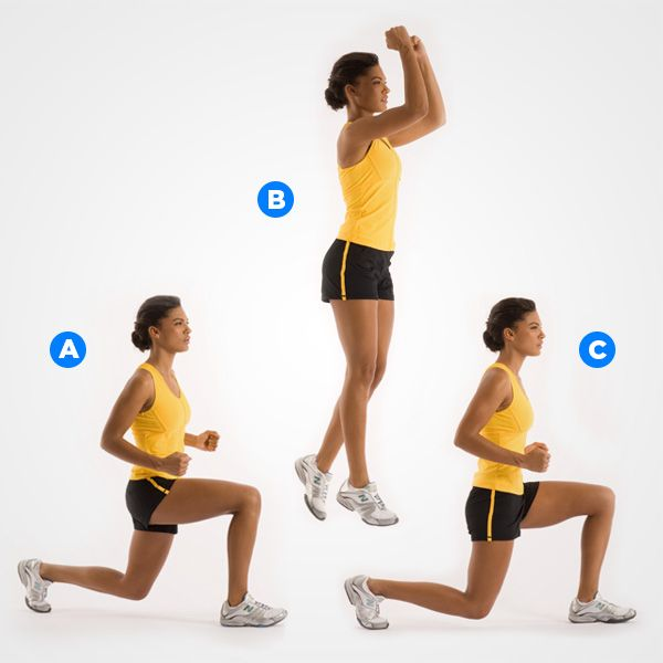 Split Lunge Jumps - Gymchalo